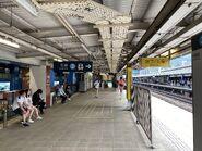 Tai Wai East Rail Line Line platform 04-07-2021