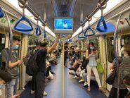 MTR Tuen Ma Line compartment 28-08-2021