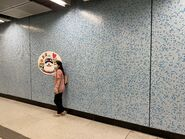 People take photo with Tuen Ma Line open logo 12-06-2021(1)