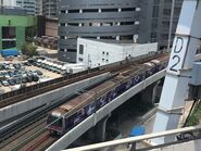 M Train Tsuen Wan Line with Avengers Endgame adveritsment 29-04-2019