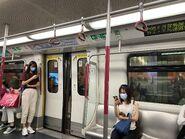MTR Tseung Kwan O Line compartment 15-09-2021