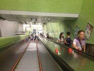 Ho Man Tin Exit A1 to A3 connect with concourse escalator 23-10-2016