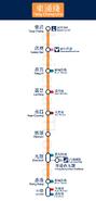 東涌綫直立路綫圖
