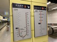 Nam Cheong Tuen Ma Line and Tung Chung Line platform route map 02-07-2021