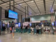 Hong Kong Station Airport Express exit gate 07-08-2021