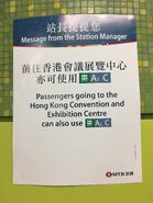 Wan Chai summer exhibition sell passenger use Exit A2 and Exit C to HKCEC