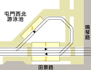 Tin King stop structure