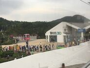 Ngong Ping Cable Car Station in the sky side
