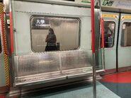 MTR East Rail Line MLR train doors and chair 06-09-2021