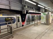 MTR MLR and R Train together in Mong Kok East 13-10-2021(1)