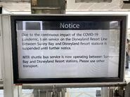 Disneyland Resort Line stop service reason of COVID-19(2) 10-04-2020
