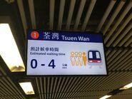 Admiralty remind to Tsuen Wan waiting time