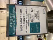 MTR Airport Express due to COVID-19 to adjust frequency notice 07-05-2021