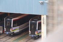 New LRT train in Tuen Mun Depot