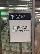 Hong Kong West Kowloon for to Hong Kong Island Taxi Stand board 2