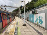 University Station platform 14-09-2020