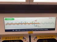 Tuen Ma Line route map in train 27-07-2021