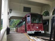 Peak tram stop in Barker Road