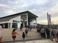 Many people waiting Ngong Ping 360