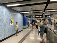 People take photo with Tuen Ma Line open logo 12-06-2021(2)