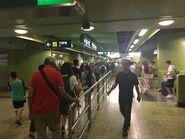 Wan Chai platform 1 concourse space