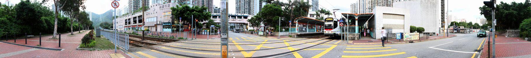 建生站全景圖,可見建生站後面為通往建生巴士總站的良運街
