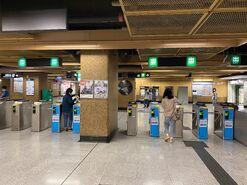 Sheung Wan exit gate 01-04-2020