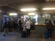Wan Chai Ferry Pier entry gate and customer service centre
