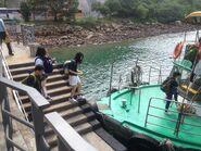 Passengers boarding for Tsui Wah 1 Wong Shek to Wan Tsai and Chek Keng