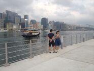 Kwun Tong to Cruise Terminal kaito in the sea and next to Kai Tak Public Pier