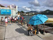 Lei Yue Mun(Sam Ka Tsuen) to Tung Lung Chau Ferry passengers alighting situation 25-06-2017(3)