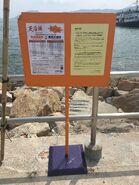 Joss House Bay Public Pier near NWFF notice