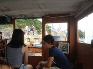 In Blue Flag Ma Kee Katio compartment to see Half Moon Bay Pier landing step