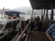 Passengers in Ma Liu Shui Ferry Pier alighting ferry