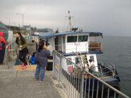 Ma Liu Shui to Lai Chi Wo ferry passengers alighting in Ma Liu Shui Landing No 3