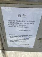 Discovery Bay to Mui Wo service notice 30-04-2020
