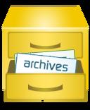 Golden file cabinet