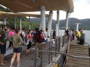 People wating for ferry in Wong Shek Ferry Pier