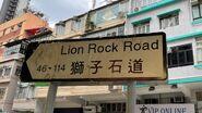 獅子石道路牌202106