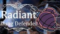 Dung Defender Radiant (Hitless) Hollow Knight