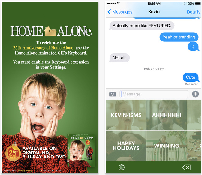 MrBlonde267/Home Alone apps launched for 25th anniversary