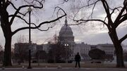 Brody pauses from his jog to gaze at the Capitol Building..jpg