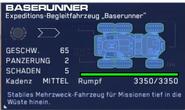 Baserunner, Datenblatt