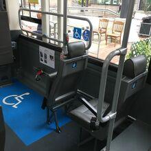 Optare Solo SR wheelchair space.JPG