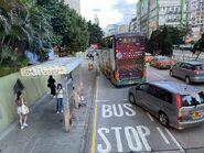 Un Chau Estate bus stop 07-09-2021