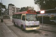 Red minibus KW476(2)