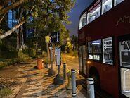 Wetland Park Road bus stop 27-08-2021