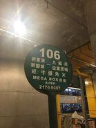 New Territories 106 minibus stop in Kowloon Bay