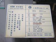 Hong Kong Island 47M and 48M information board 08-03-2016