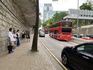 Kowloon Park Drive resident bus stop 28-07-2021